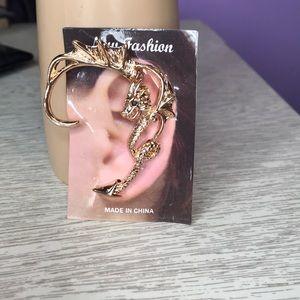 Gold dragon ear wrap